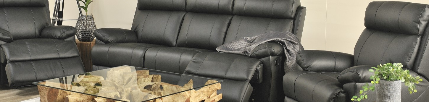 Gilmour Leather Recliner Suite $2,199